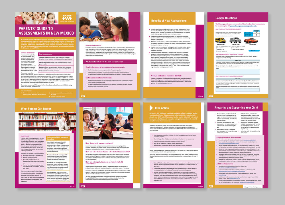 """An example of one of the """"Parent's Guide to the New Assessments."""""""