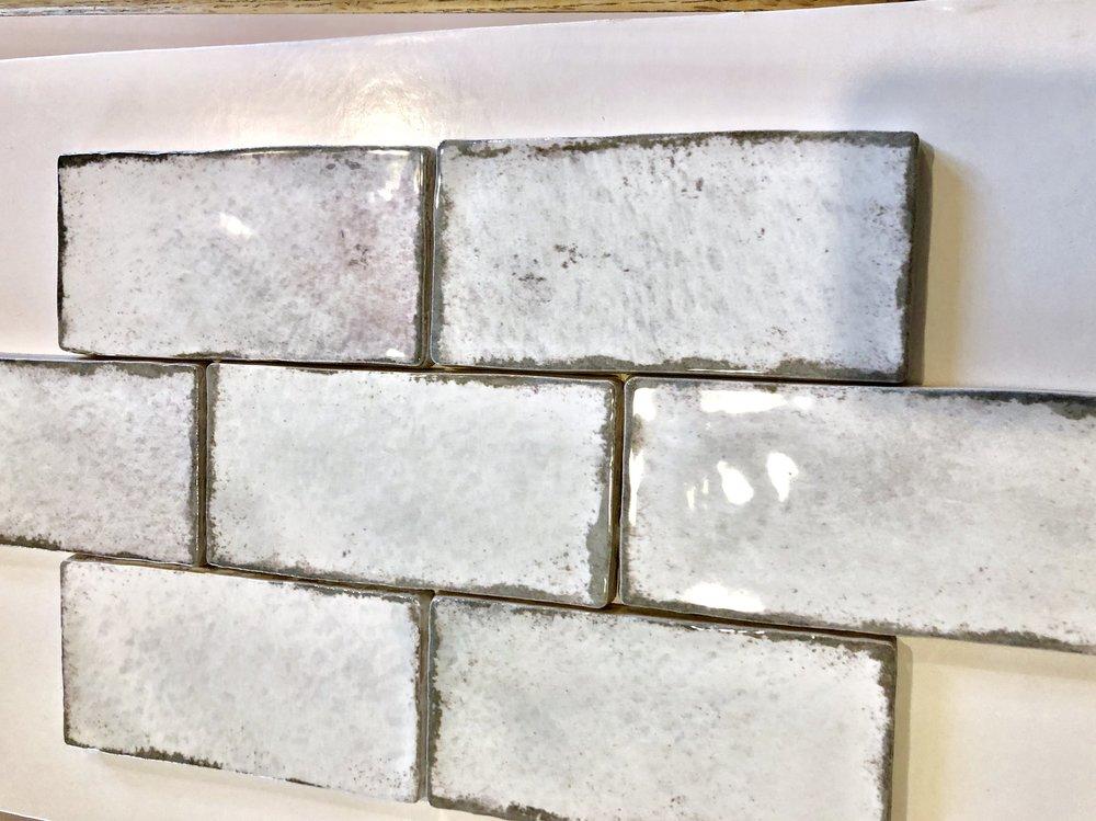 Handmade ceramic backsplash tile