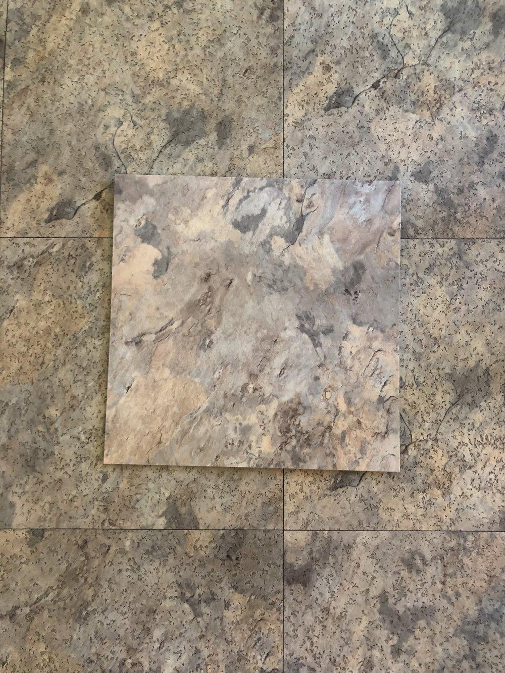 Existing laminate floor tile