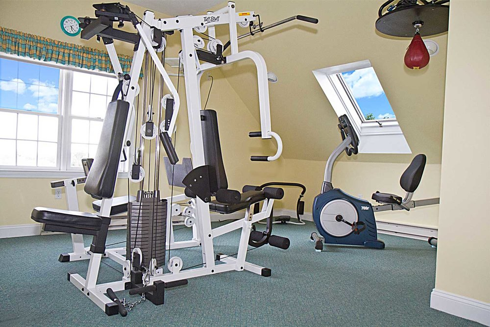 This home had an exercise room.