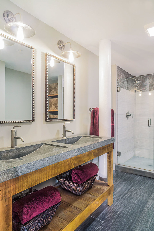Industrial Loft Bathroom Interior Design
