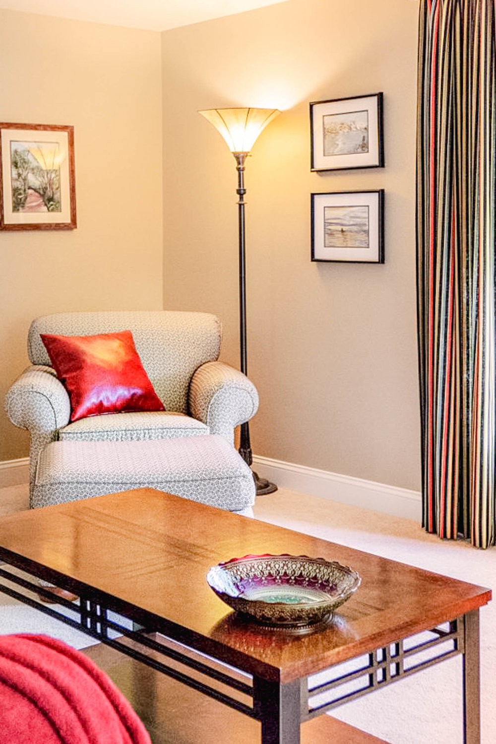 Existing Furniture was reused in this 55+ home.