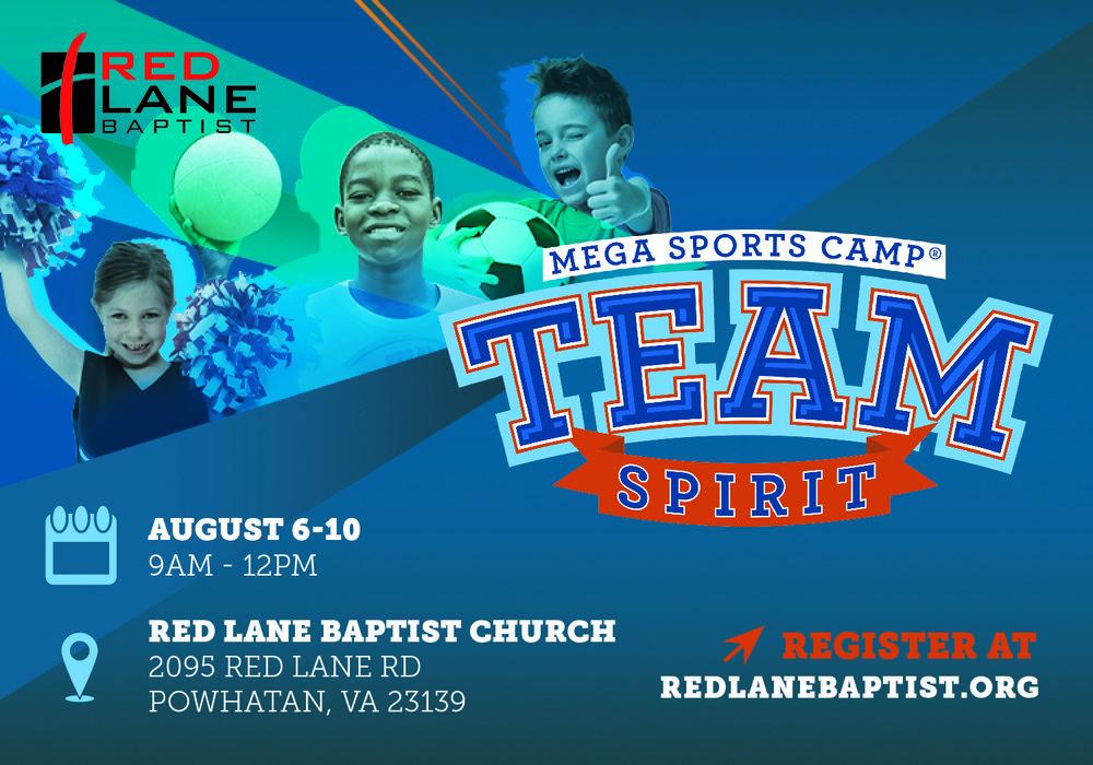 Red Lane Baptist Church's Sports Camp Postcard