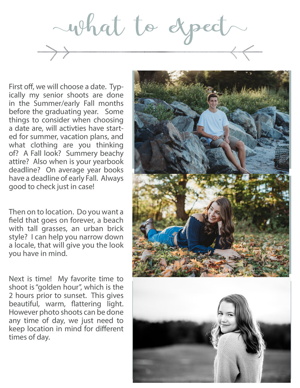 What to expect senior portraits, with Kelley Traver Photography Hampton NH