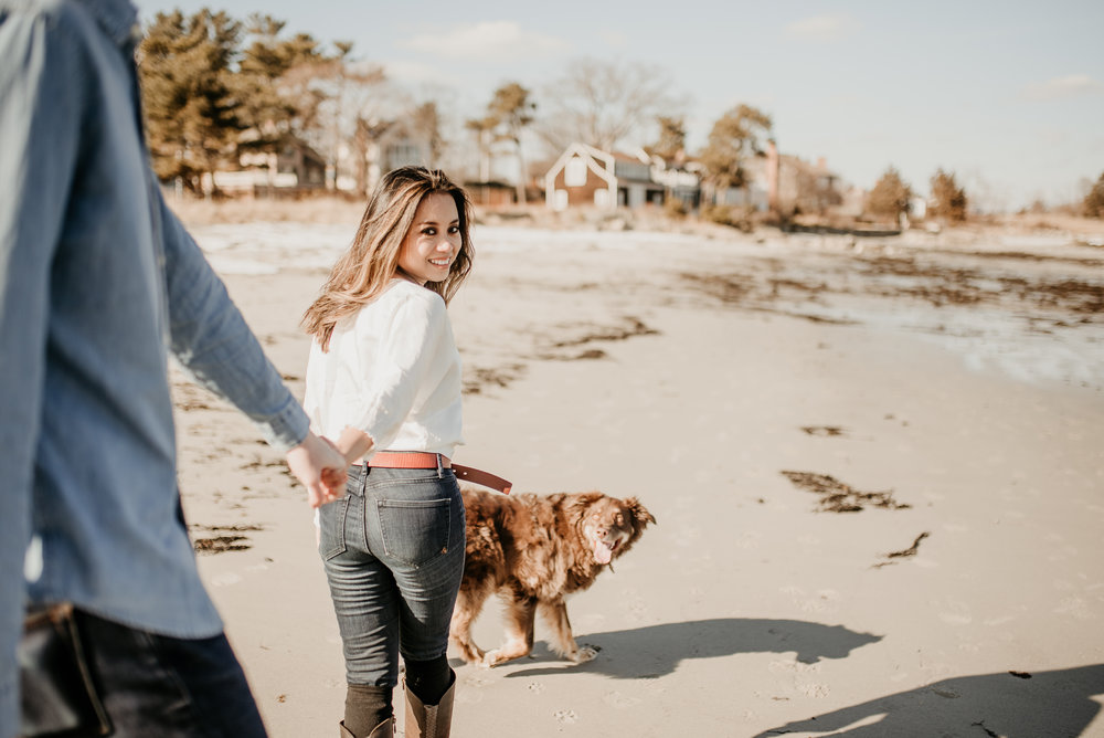 Love this too, Look back at me while you pull your fiance behind you .. (NH Seacoast photography)