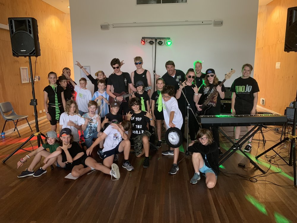 Rock School - We run a Rock School holiday program every term break where the kids learn how to be in a band and write music!