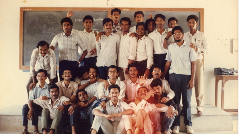 Class photo from my college years