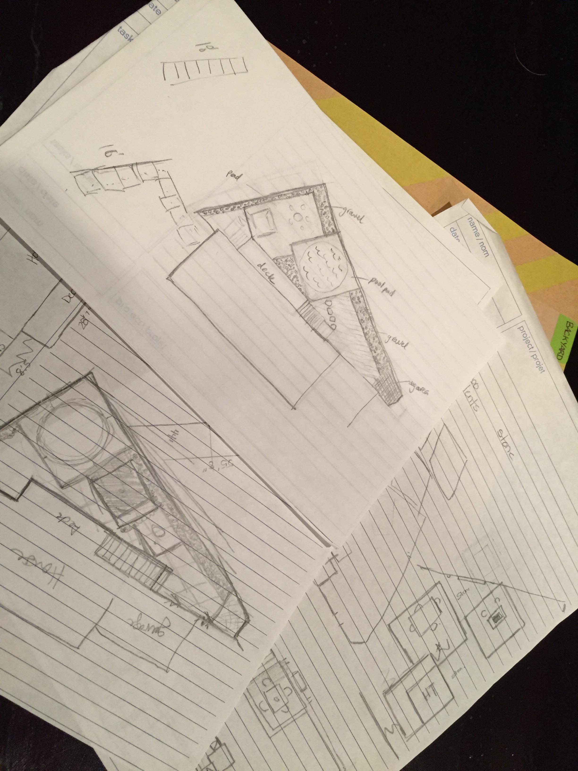 The Everyday Journalista, Everyday Journalista, Backyard Makeover, Backyard update, Backyard sketches, Backyard plans, DIY,