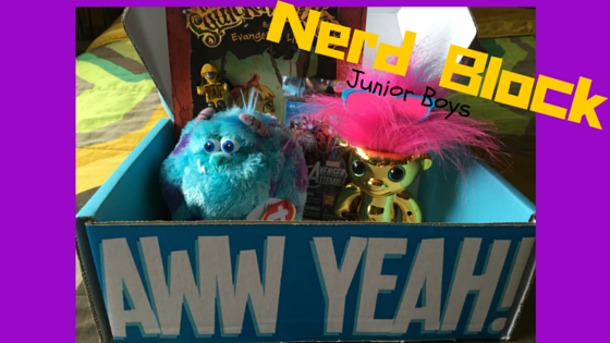 Nerd Block Jr Boys, Nerd Block, Nerd Block Review, The Everyday Journalista, Everyday Journalista, Electrokid, Kreo, Sulley, Monsters Inc., Beanie Balls, Avengers, Kids Toys, Subscription Box, Evangeline Lilly,