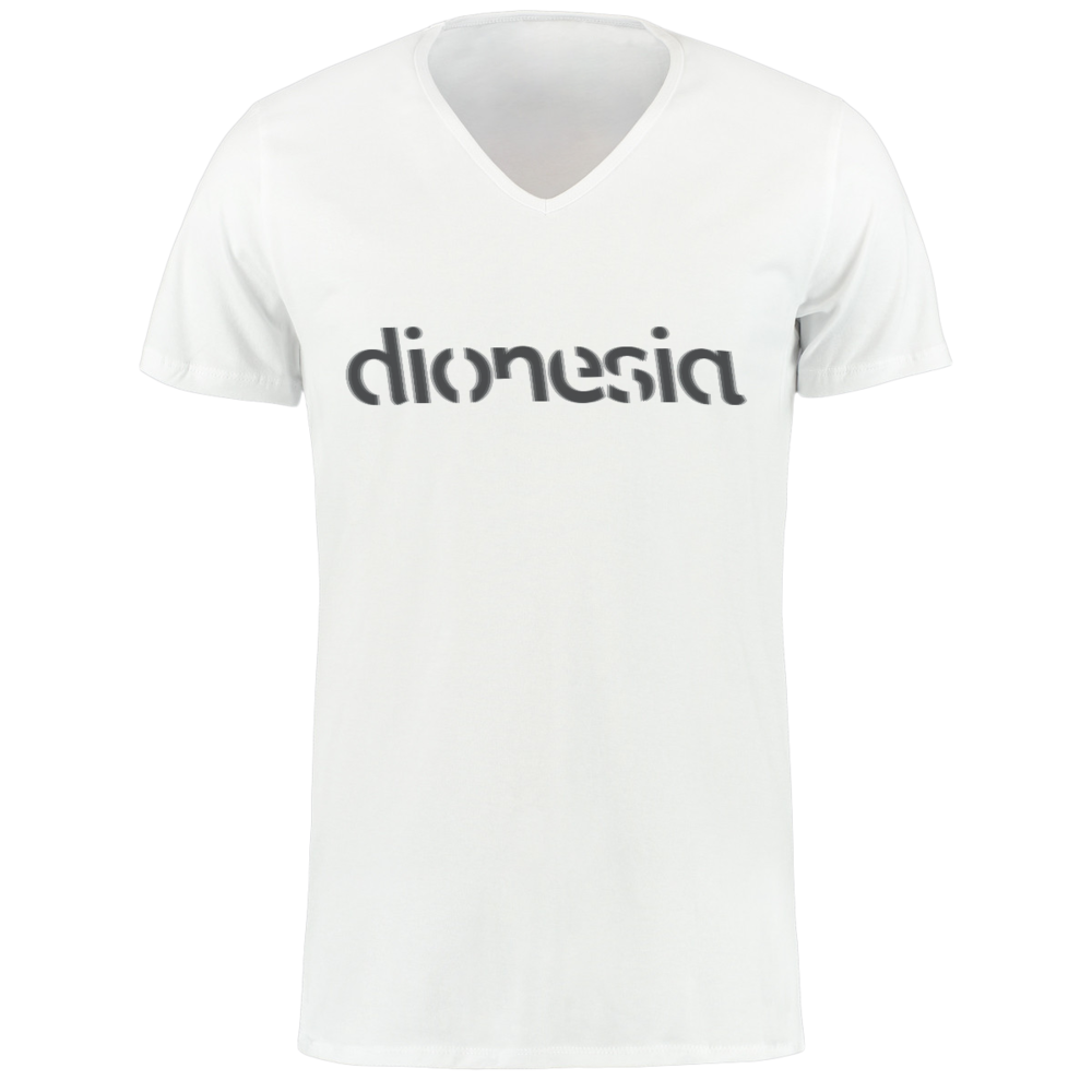 Deluxe t-shirt in white (Limited edition) - V-neckMales: M/L/XL Females: M/L/XL