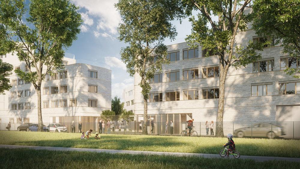 NZI LAUREAT pour la construction d' un Foyer de travailleurs migrants de 140 chambres à AUBERVILLIERS pour CDC HABITAT