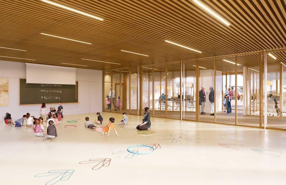 NZI LAUREAT - Reconstruction de l'école Jules Ferry à Noisiel
