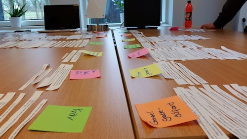 Finding themes across the large qualitative data set
