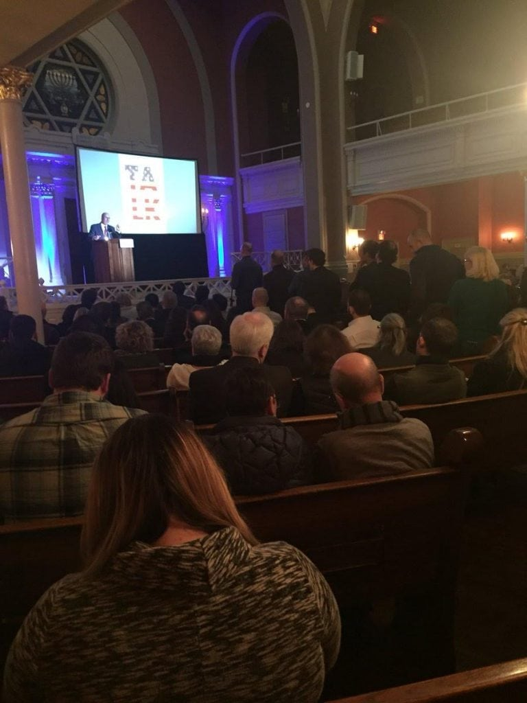 Speech for a public, paid gathering of 400+ at the historic 6th and I Synagogue in Washington, D.C  December 4, 2017