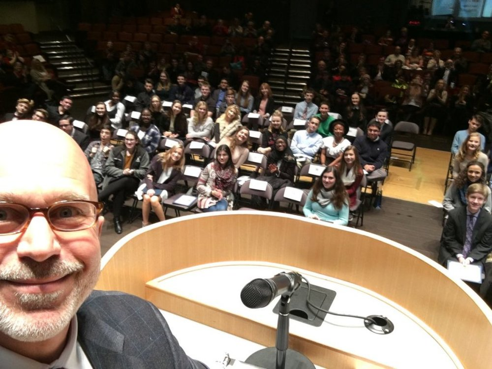 Addressing the 50th Anniversary of the KYW Newstudies program (in which Michael Smerconish was a 1980 participant)