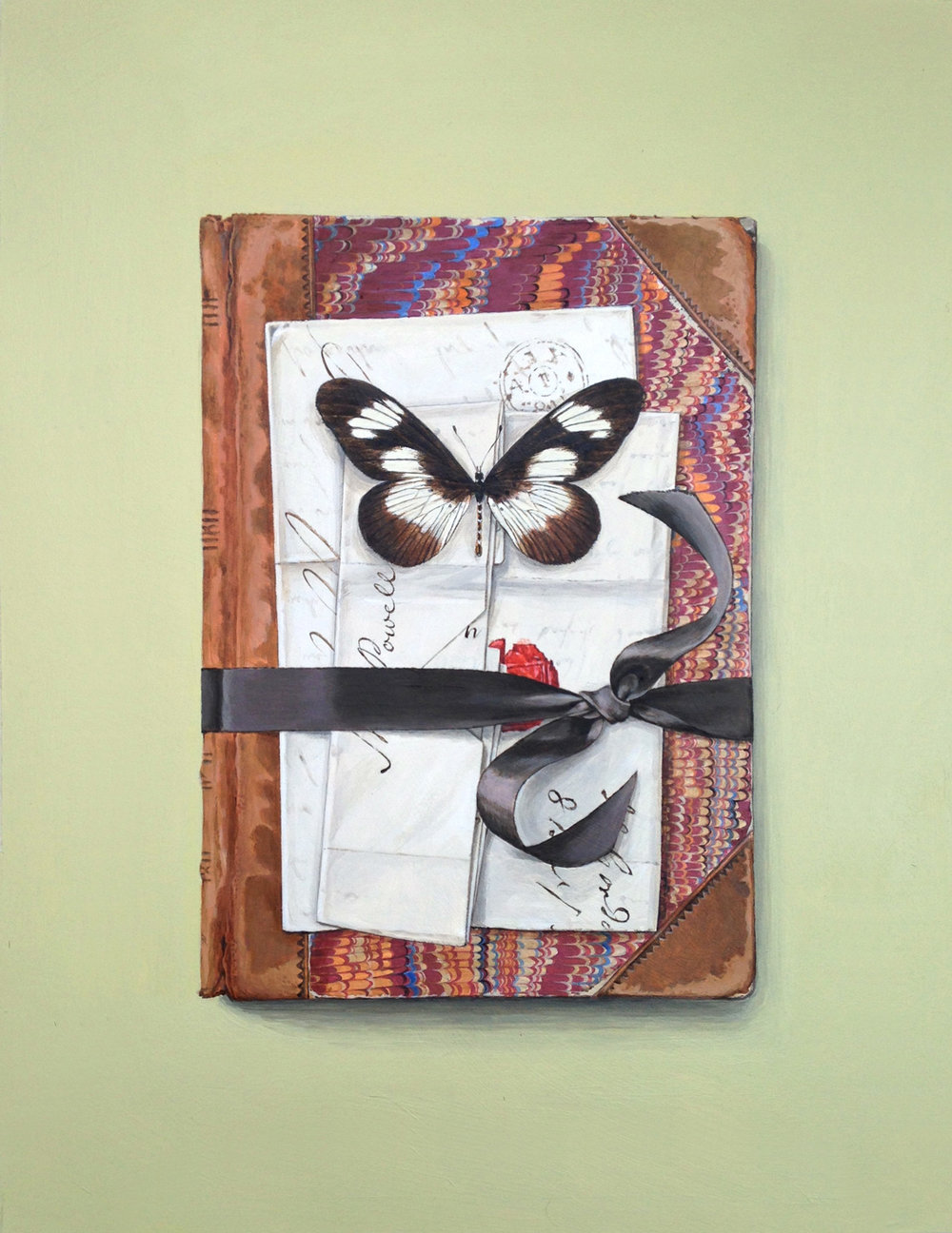 Mrs Powell's book with butterfly