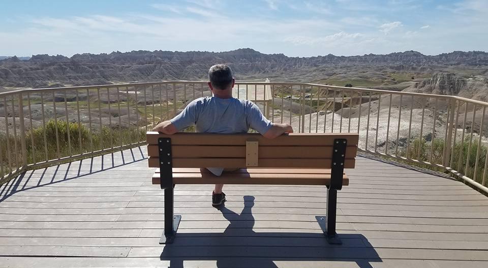 viewing the Badlands, South Dakota