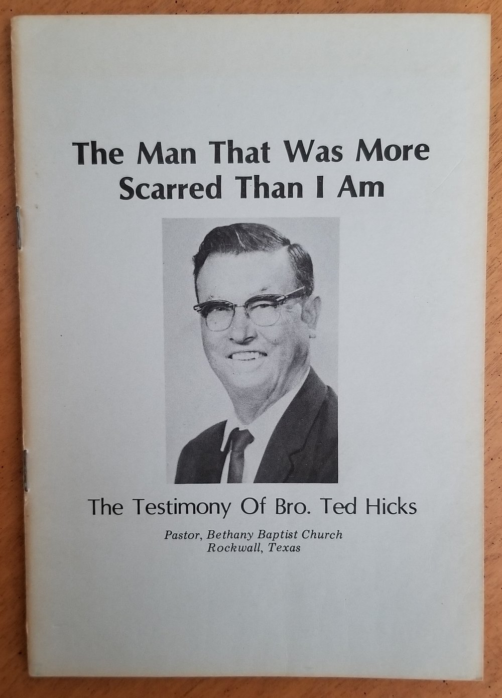 the self-published paperback by Dr. Ted Hicks