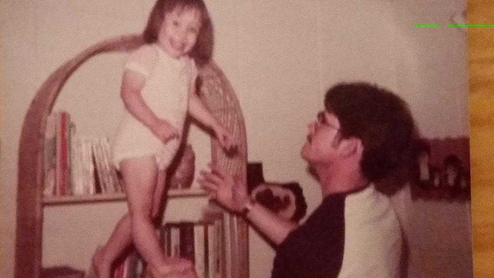 Ashley danced in Daddy's hand.