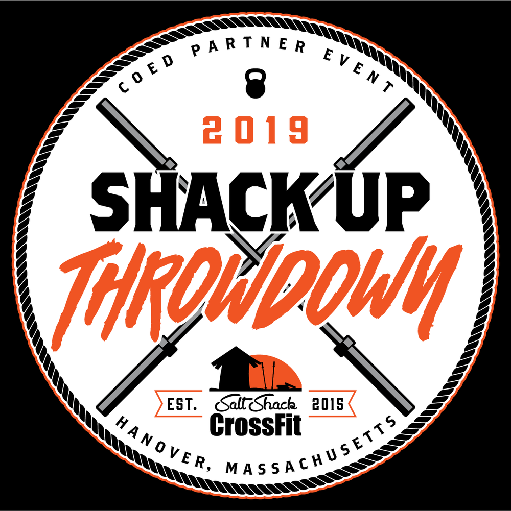 Coed Parter Event - Salt Shack CrossFit is thrilled to host its first Shack Up Throwdown Competition. It is a 2-person, co-ed, team competition. Scaled and an RX Competition will both go on Saturday June 22, 2019 from 8:00am to 4:00pm. All teams are guaranteed four workouts. Teams-Competition Limited to 50 Teams -Early Bird Discount: First 15 Teams, $150 (per team)-Standard Registration Price: $175 (per team)-Please note there are absolutely no refunds.-T-Shirts/Tank Tops are guaranteed for those who register before 5/1/19. After that there is no guarantee.-WORKOUTS WILL BE RELEASED LEADING UP TO THE COMPETITIONDeadlinesRegistration deadline to receive a shirt is 5/1/19Last date available for registration is 5/27/19