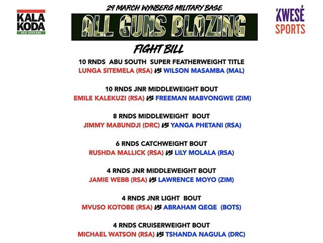 The Fight Bill is out 🥊🔥🥊🔥 #kalakodaboxing #fridayfightnight #capetownboxing #boxingchamp