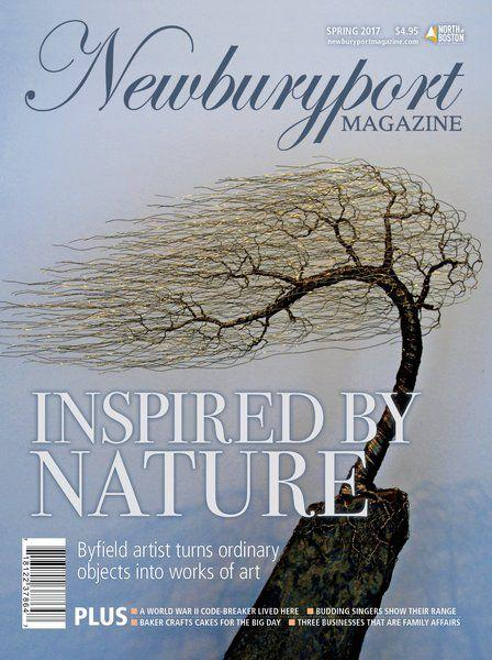 "Wire By Ryan Featured On Newburyport Magazine - ""well-known for his intricate wire trees that look like they have been touched by nature."""