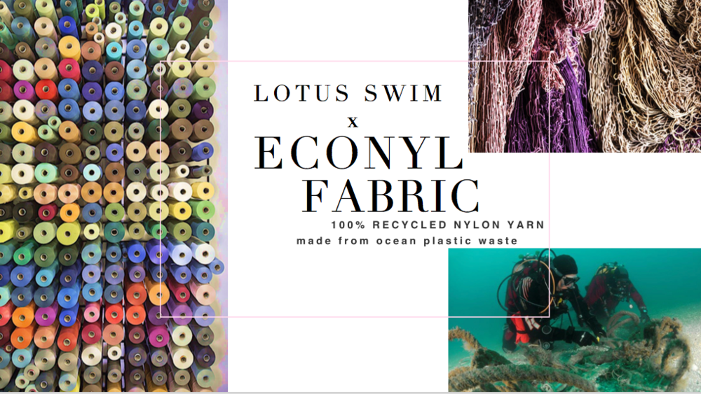 sustainability - We've partnered with ECONYL© to make our suits out of recovered fishing nets and single use plastic dumped in our oceans in millions of pounds per year.Look good, do good.