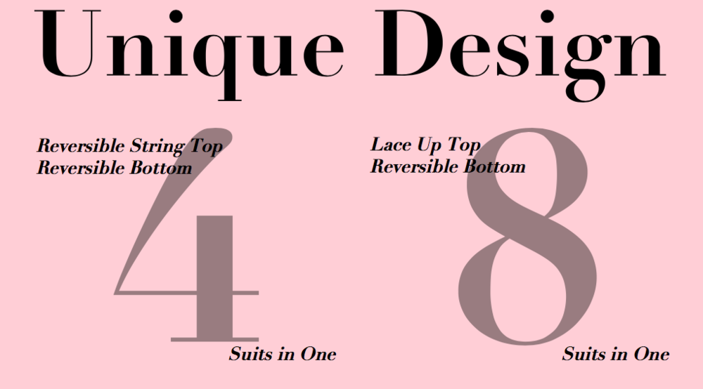 Design - Our suits are designed with your curves in mind.Multi-wear, reversible suits that won't break the bank.