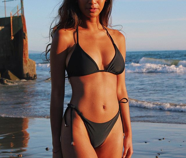 golden hour. in the string top x string bottoms in black 💫 ⠀⠀ suits made with regenerated nylon fabric from ocean fishing nets ♻️ / / / / /  #ootd #fashionstyle #styleoftheday #styleinspo #aboutalook #fashion #aquaholic #beach #beachbody #beachy #ocean #endlesssummer #saltlife #welovedaily #societygal #islandlife #flashesofdelight #darlingdaily #stillswithstories #discoverla #healthymindset #nature #bluesea #lovetheocean #oceanlife #oceanlove #clearwaters #sealife #thehappynow #summer2019