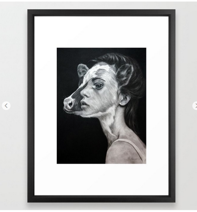 Selection of different prints available from Society6