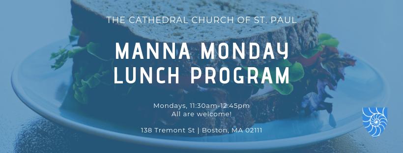 MANNA Monday Lunch Program