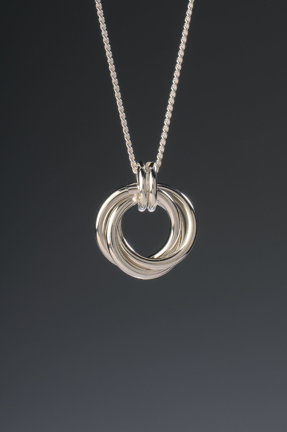 Small Sterling Silver Infinity Pendant