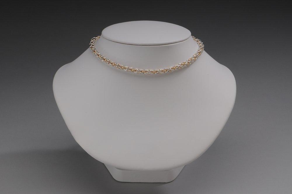 Delicate Two Tone Byzantine Collar