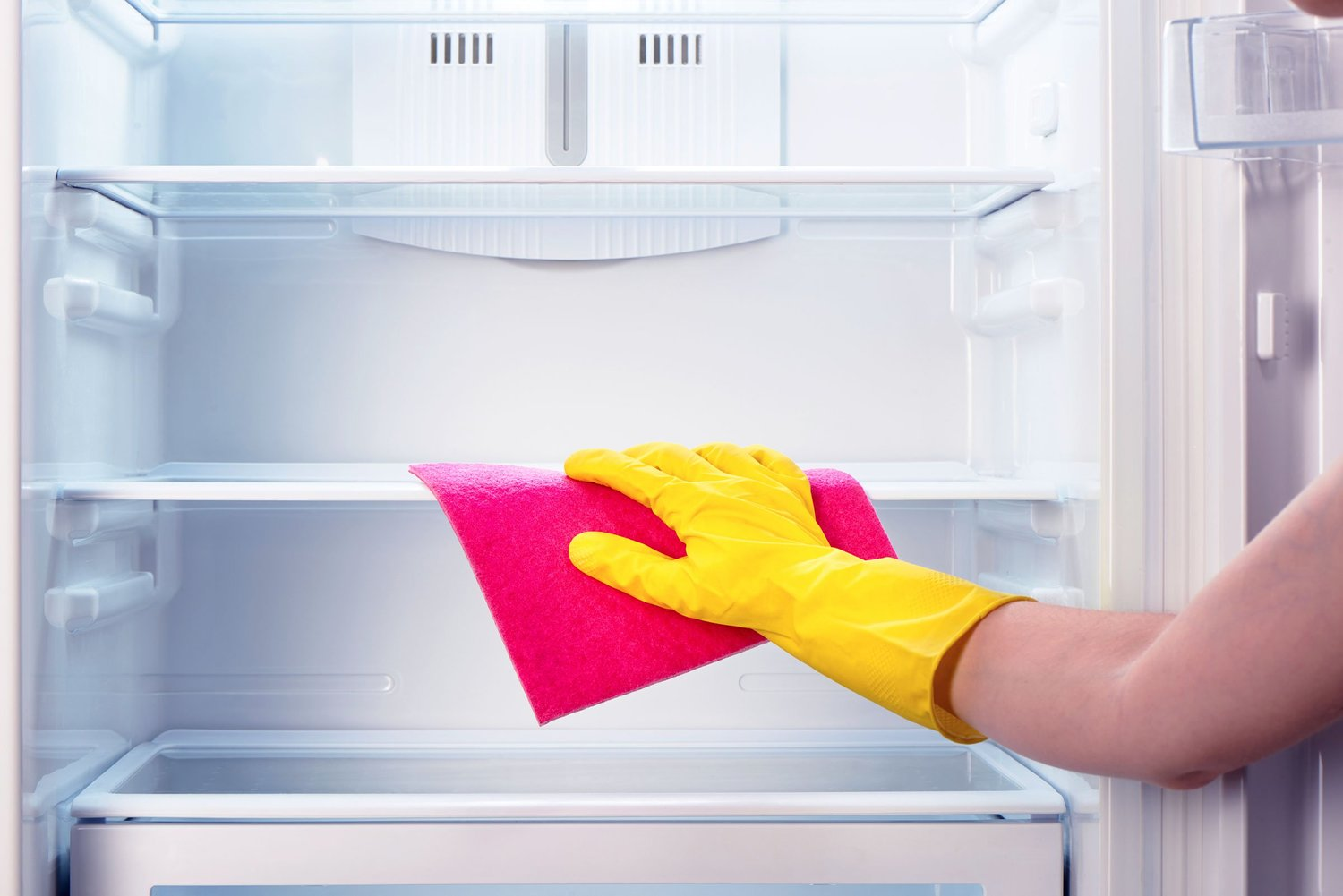 refrigeration case cleaning