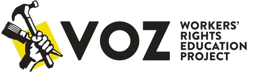 Voz is a worker-led organization that empowers diverse day laborers and immigrants to improve their working conditions and protect civil rights through leadership development, organizing, education and economic opportunity.