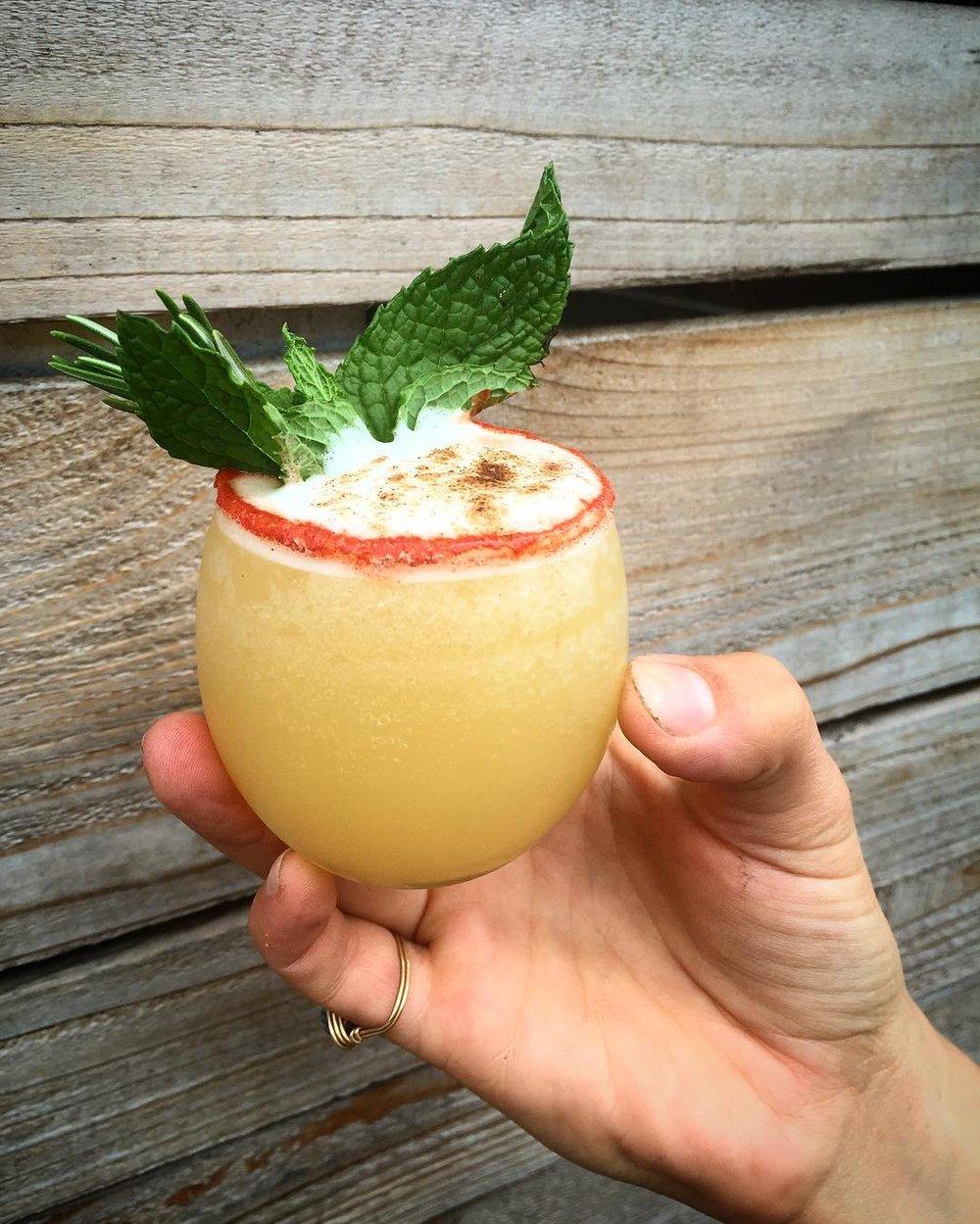 Rum + pineapple + coconut + flair