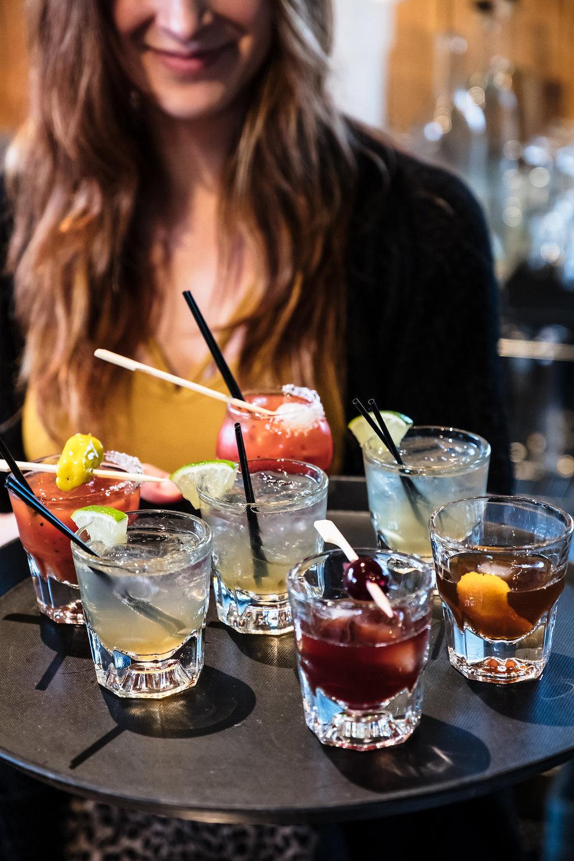 Mini cocktail flights