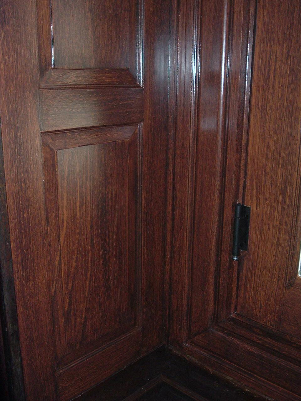 Faux wood grain,  private residence, Philadelphia, PA