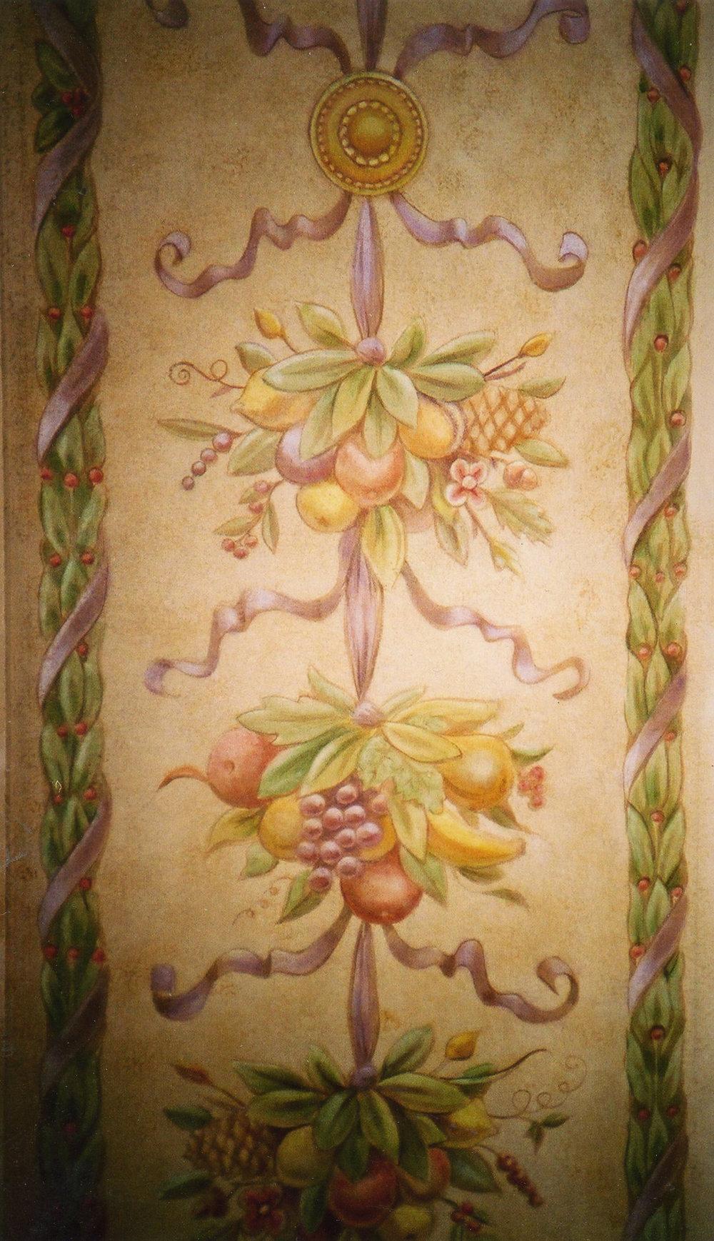 Hand paited floor cloth,  private residence, Philadelphia, PA