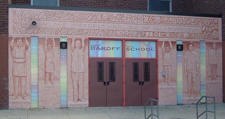 Entrance Mural Daroff Public School, Philadelphia