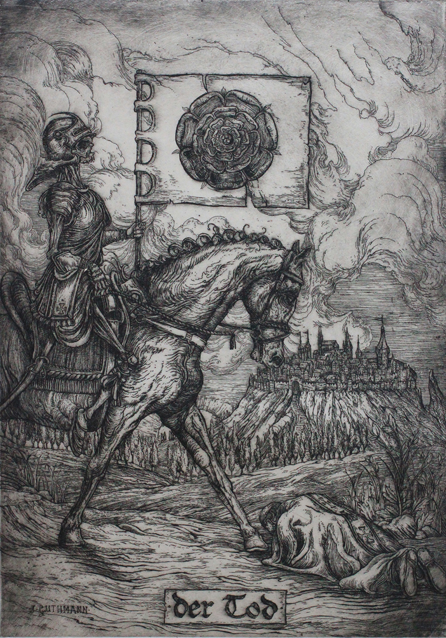 """""""death tarot card""""   etching on hahnemuhle  available in online shop"""