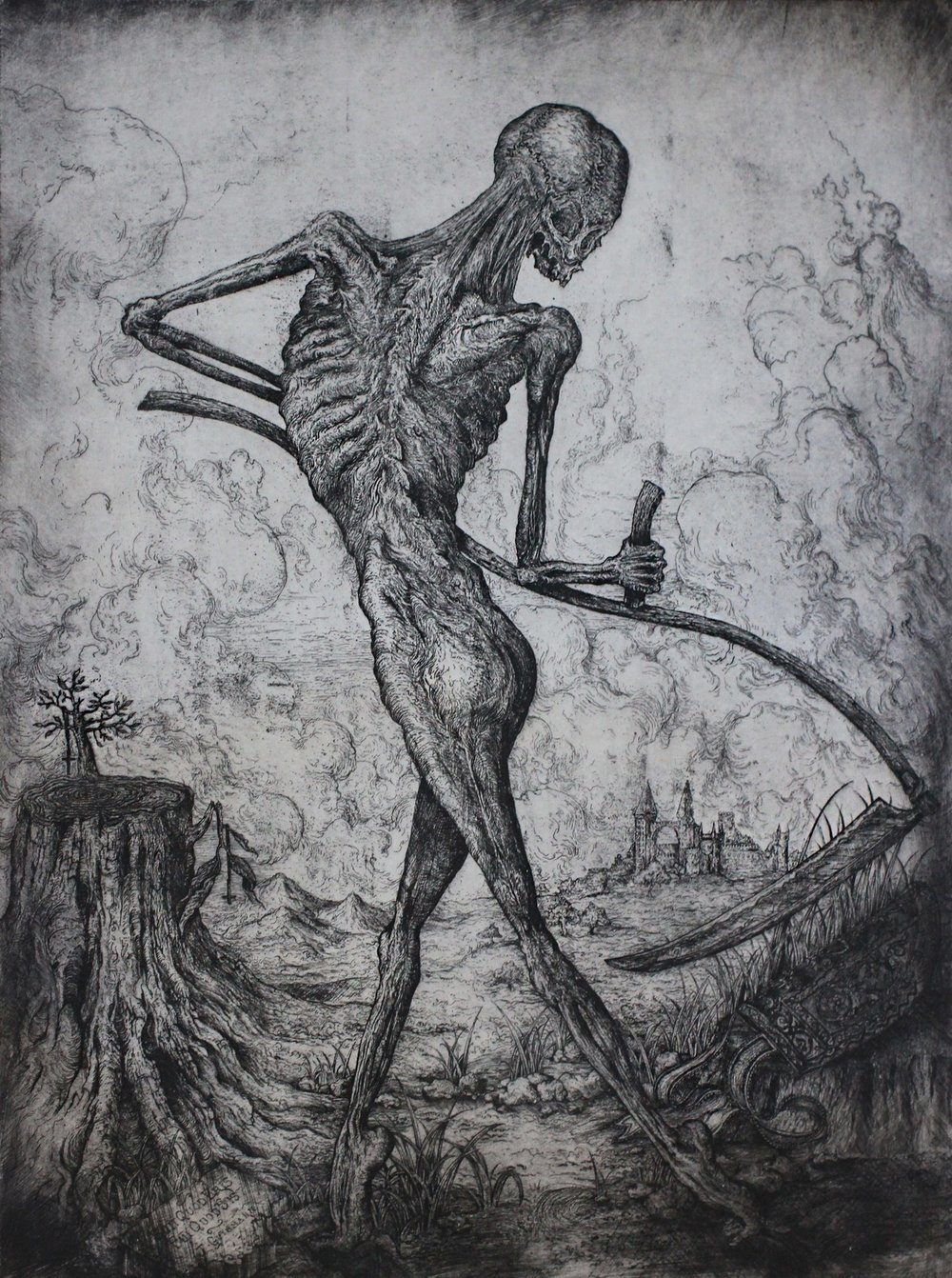 """totentanz I""   etching on hahnemuhle  available in online shop"