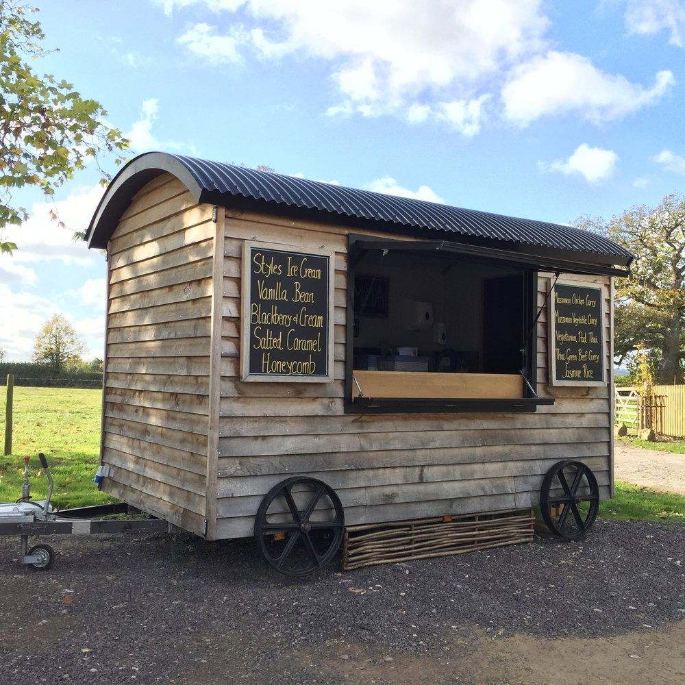 The shepherd's hut when I went to view it - used only once for the manufacturer's wedding!