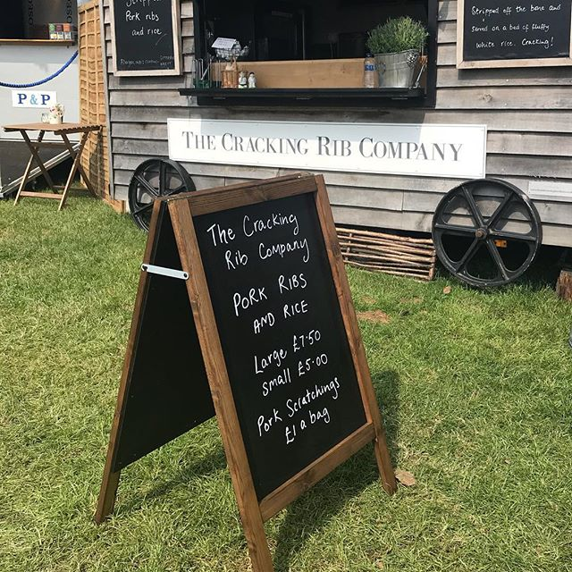 And the new, smarter blackboard helps! #eventcatering #shepherdshut #porkribs #streetfood #ribsandrice #mobilecatering