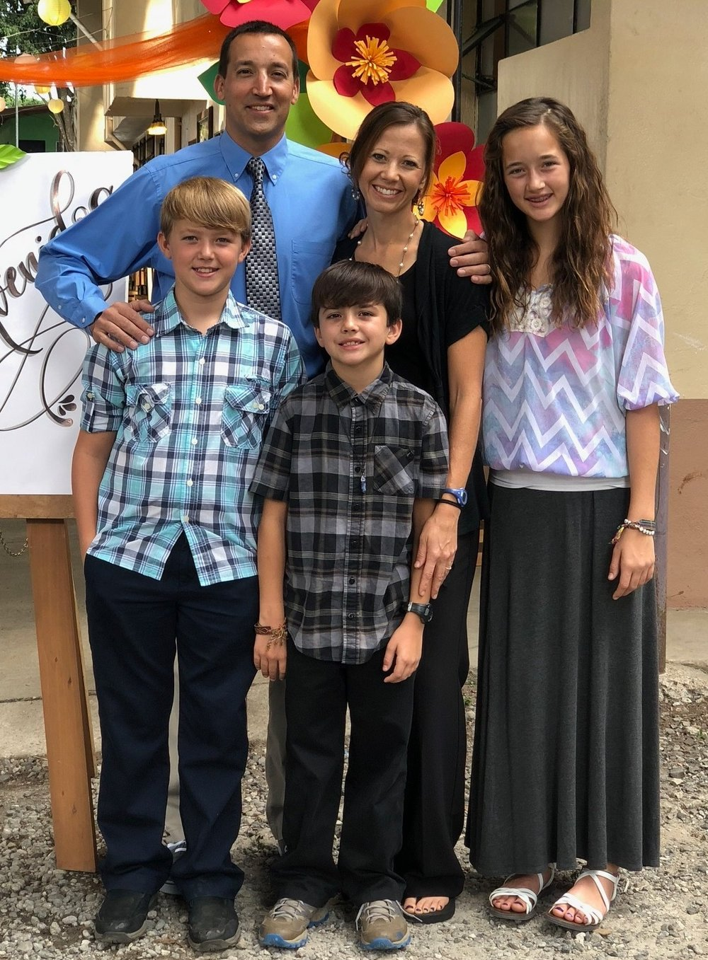 The Armstrong Family - From left to right: Kevin, Ellie, Holly, Sammy and Ben