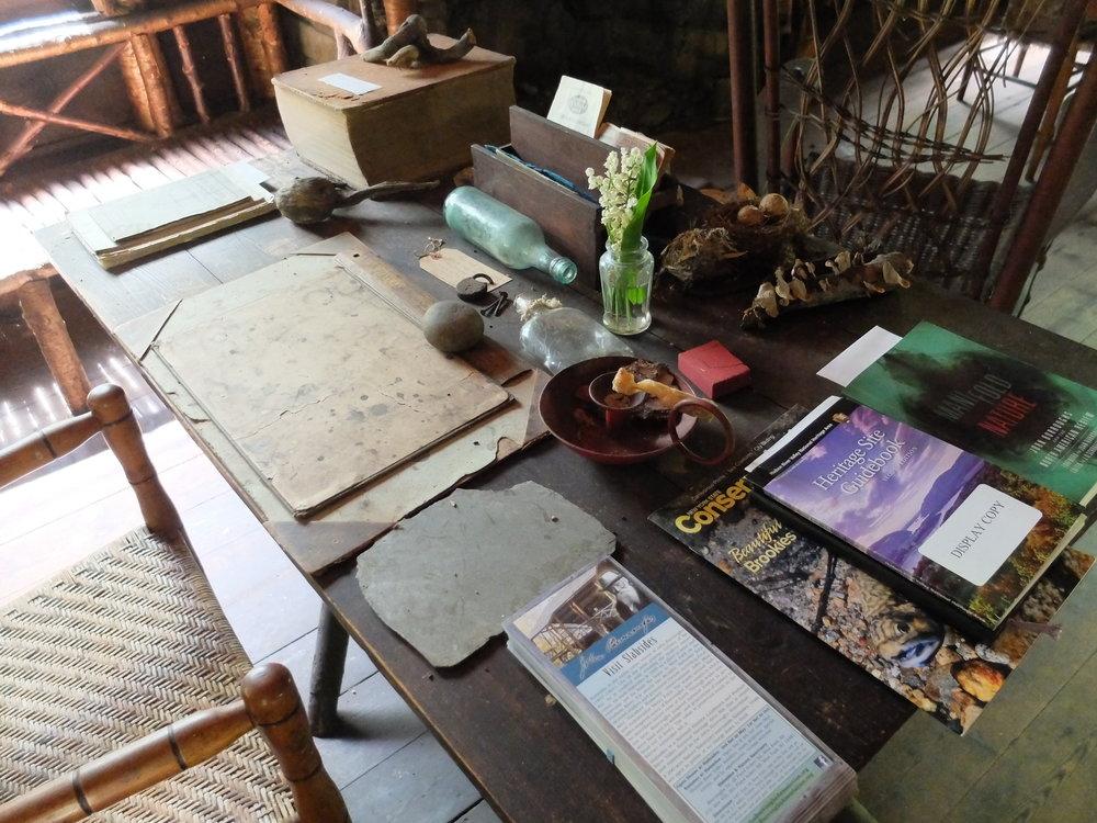 John Burroughs desk at slabsides