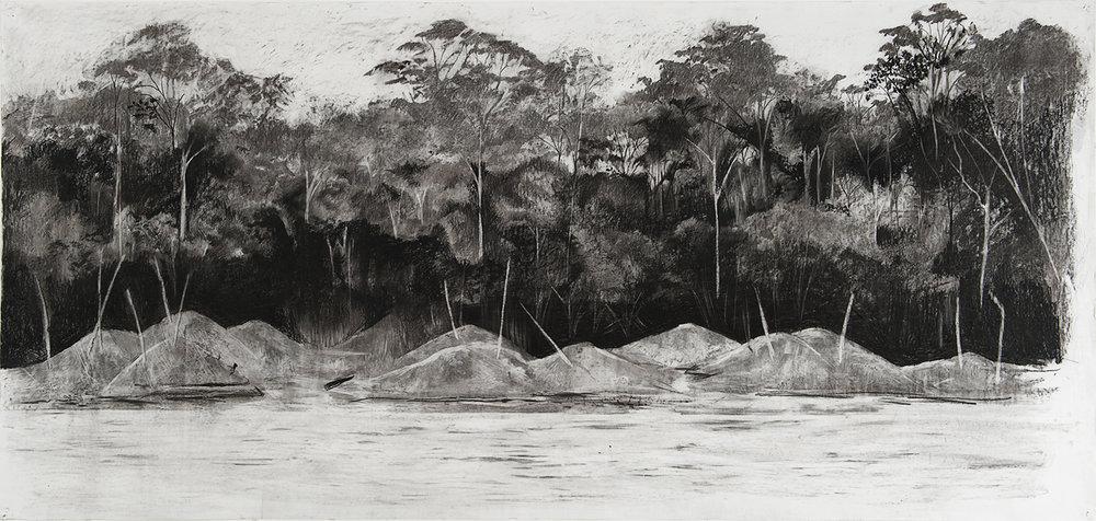 210cm x 100 Madre de Dois river bank