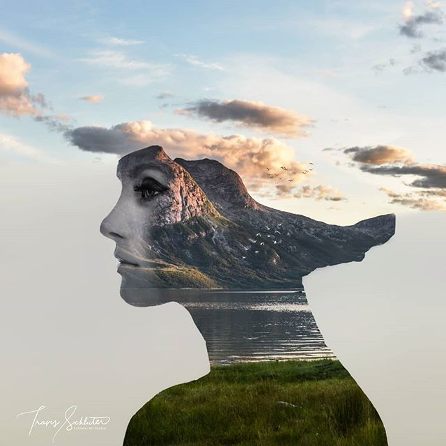 "Photo art ""Innocence""  Prints and full size image also available on schluterart.com  #art #photoart #digitalart #digitalartist #doubleexposure #landscape #portrait #innocence #doubleexposureart #mountain #lake #nature #woman #profile  #wonder #surrealism #surreal #fineart #instagood #instaart #photomanipulation #photography #freelance #prints #artprints #printsforsale #metalprints #canvasprints #photoshop #wacom"