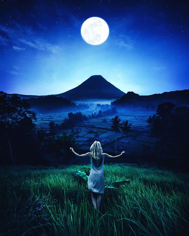 "Always reach for the moon in everything you do.  Photo art ""The Moon""  Prints and full size image also available on schluterart.com  #art #photoart #digitalart #digitalartist #space#nightsky #stars #landscape #fantasy #scifiart #scifi #woman #moon #wonder #surrealism #surreal#fineart #instagood #instaart #photomanipulation #photography #freelance #prints #artprints #printsforsale #metalprints #canvasprints #photoshop #wacom"