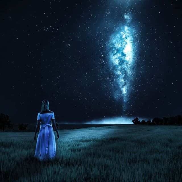 Hope everyone is doing well!  Prints and full size image also available on schluterart.com  #art #photoart #digitalart #digitalartist #space#nightsky #trees #dark #fantasy #scifi #girl#blue#milkyway #wonder #instagood #instaart #photomanipulation #photography #freelance #prints #artprints #printsforsale #limitededition